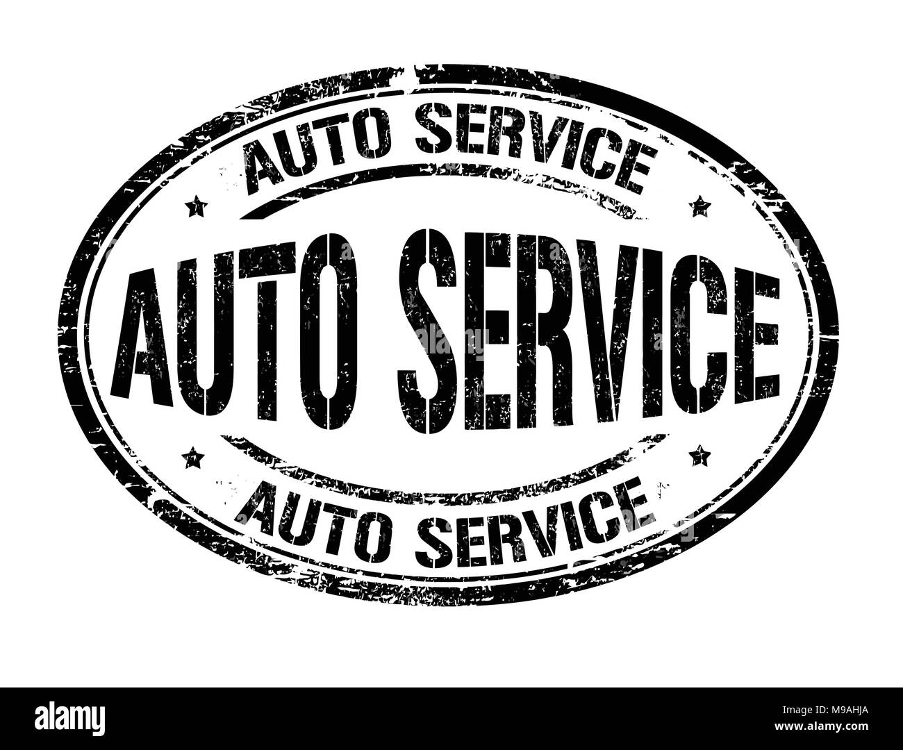 Auto service grunge rubber stamp on white background, vector illustration Stock Vector