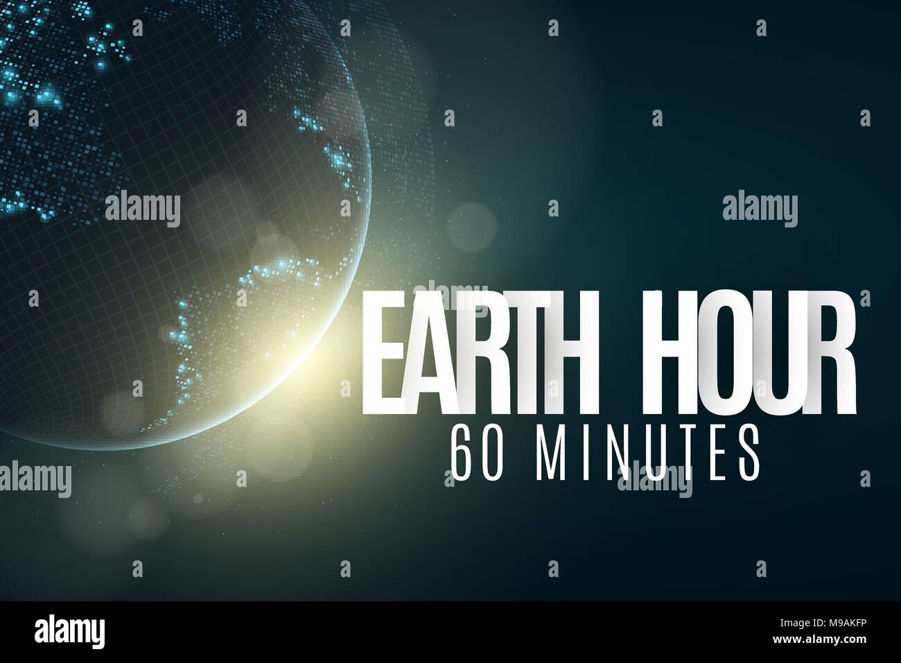 Earth hour futuristic planet earth 60 minutes without electricity earth hour futuristic planet earth 60 minutes without electricity 3d paper letters sunrise global holiday clock go abstract world map sunrise gumiabroncs Image collections