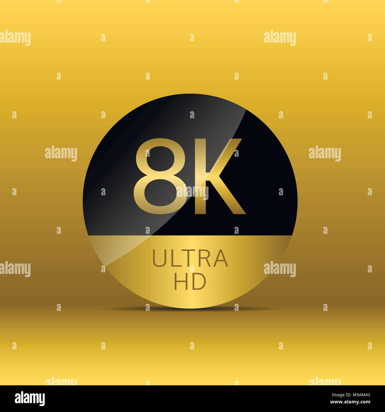8K Ultra HD icon - Stock Image