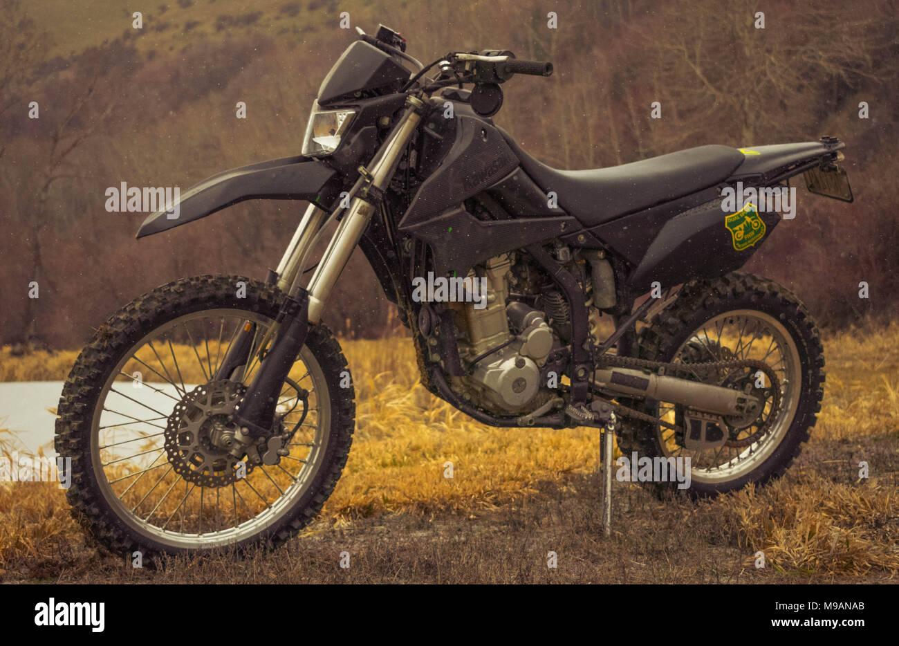 Dirt Bike Kawasaki Stock Photos & Dirt Bike Kawasaki Stock