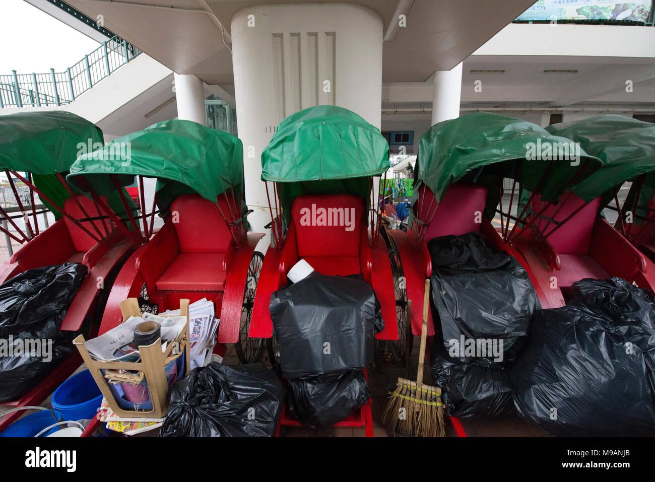 Pulled Rickshaw - Stock Image