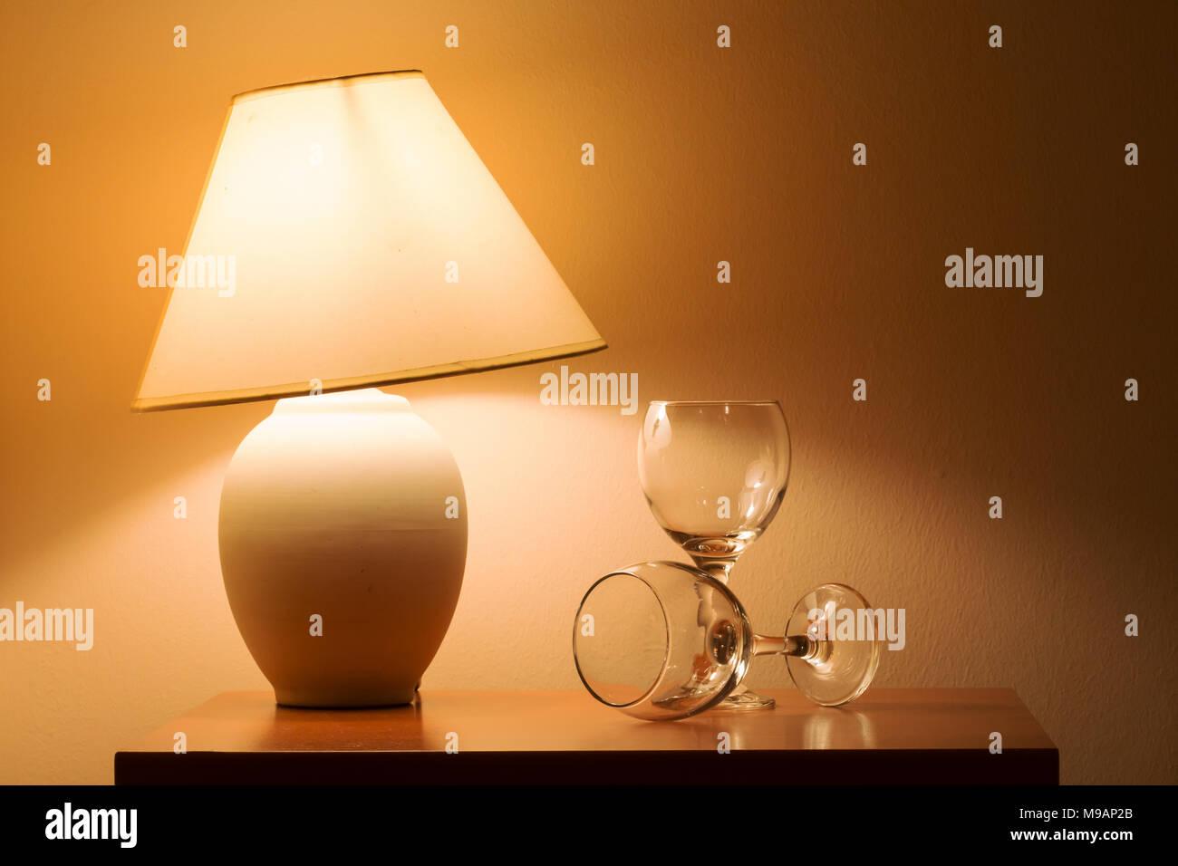 Hotel room light - Stock Image