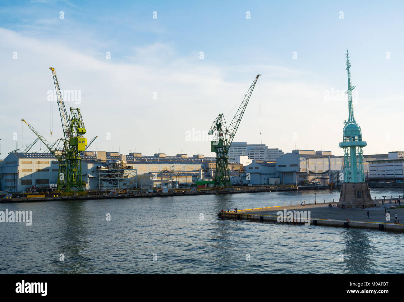 Kawasaki Heavy Industries Kobe Works, kobe, hyogo prefecture, japan Stock Photo