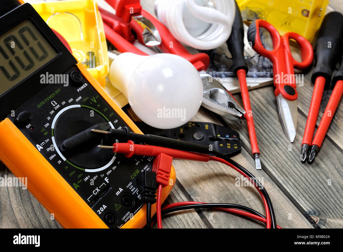 Enjoyable Close Up Of A Tester And Other Components For Residential Electrical Wiring Digital Resources Cettecompassionincorg