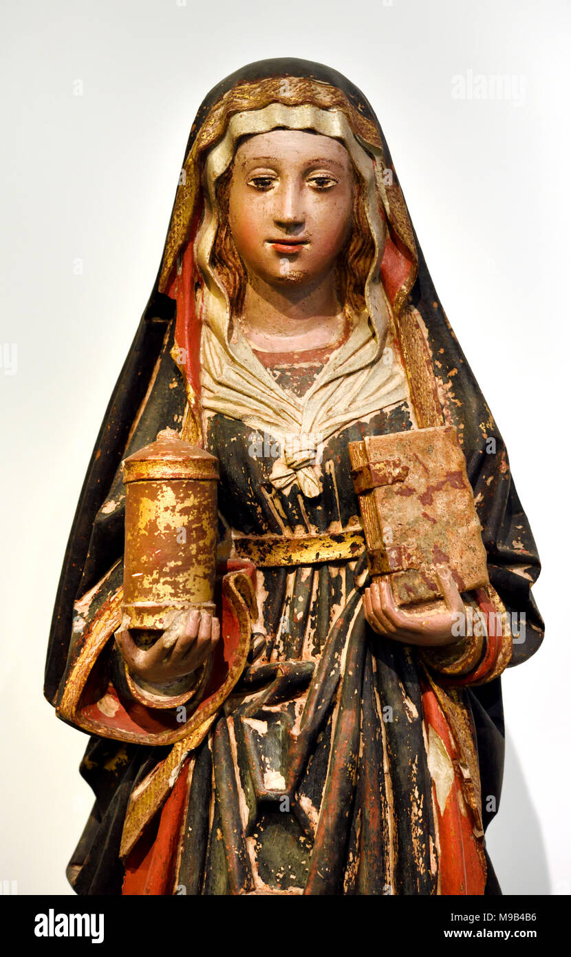 Mary Magdalene 1450 and 1500 15th Century Portugal, Portuguese, Coimbra, - Stock Image