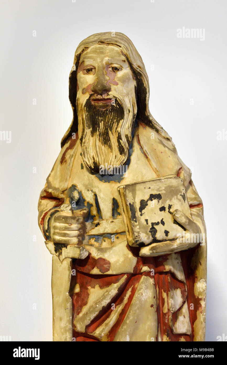 Apostle Paul, between 1450 and 1500 15th Century Portugal, Portuguese, Coimbra, - Stock Image