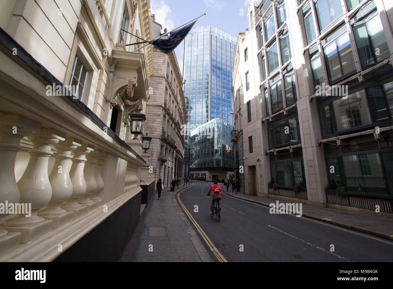 The City of London Club the  oldest of the gentlemen's club based in the City of London. The Italian Palladian-style building was designed by English architect Philip Hardwick - Stock Image