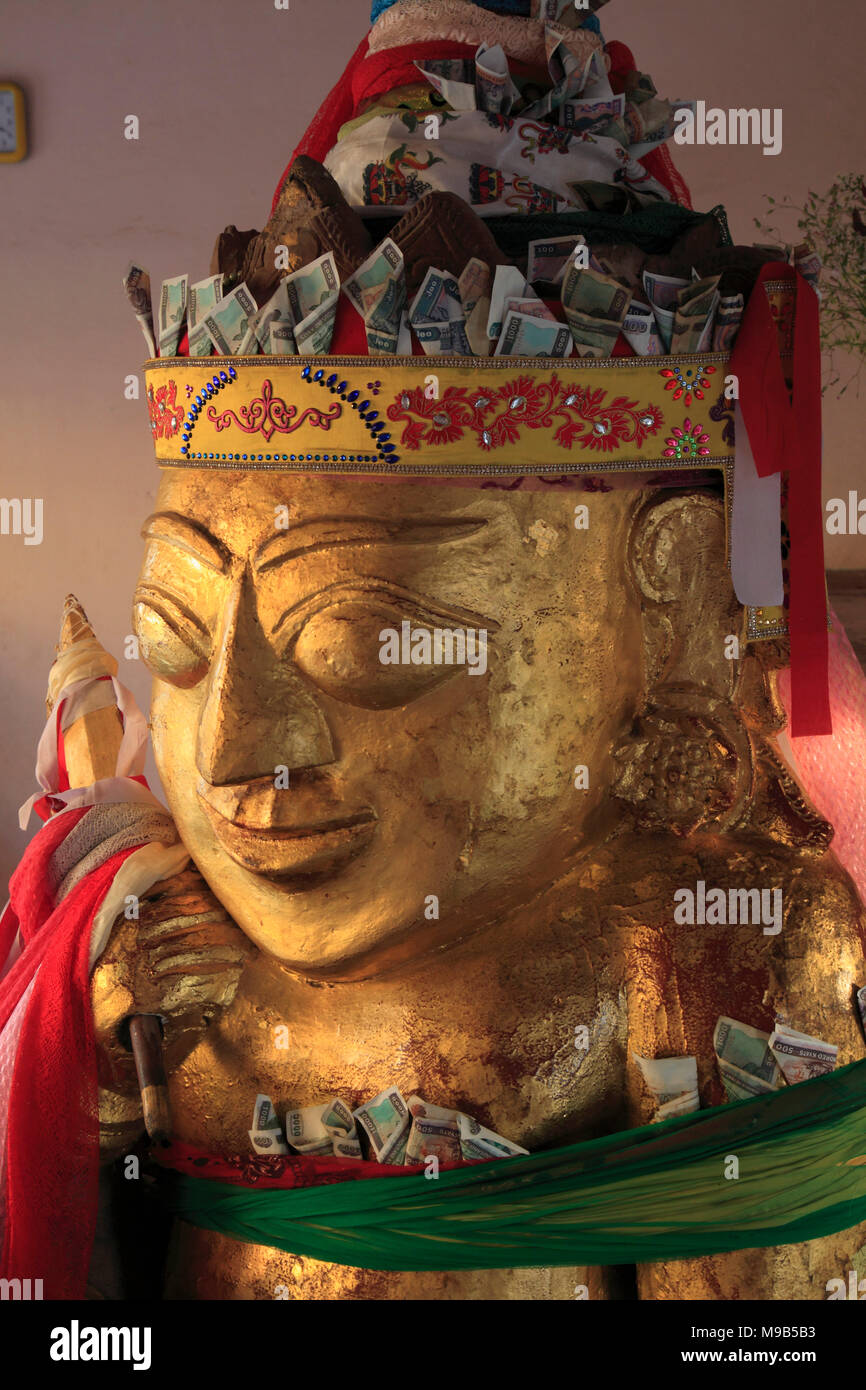 Myanmar, Bagan, Shwezigon Pagoda, Nat spirit, statue, Stock Photo