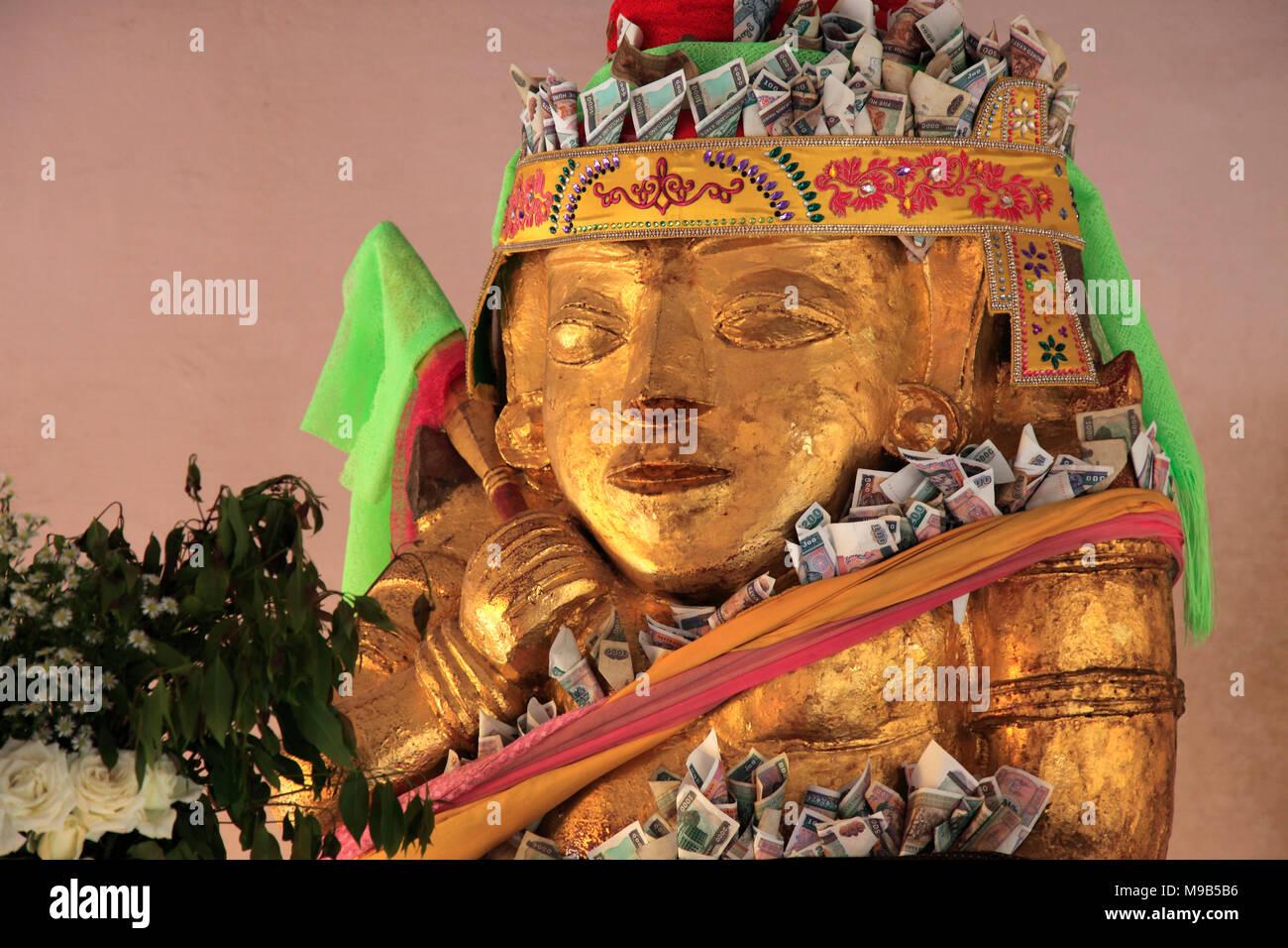Myanmar, Bagan, Shwezigon Pagoda, Nat spirit, statue, Stock Photo