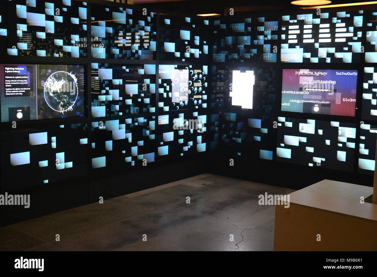 Cyber Security Exhibition at Bletchley Park, UK - Stock Image