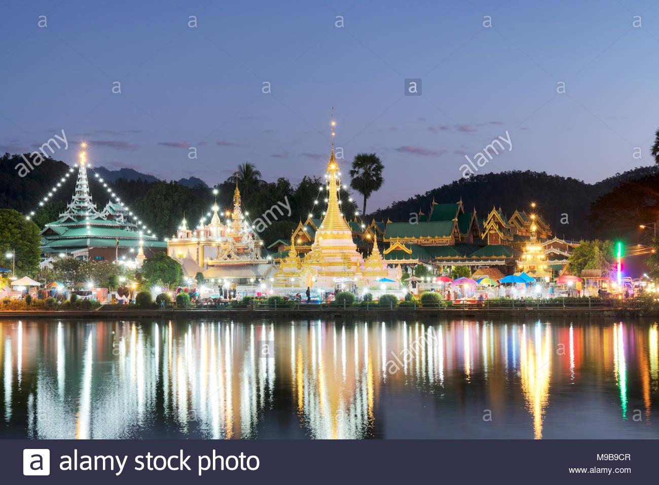 Wat Chong Klang Temple in Thailand - Stock Image