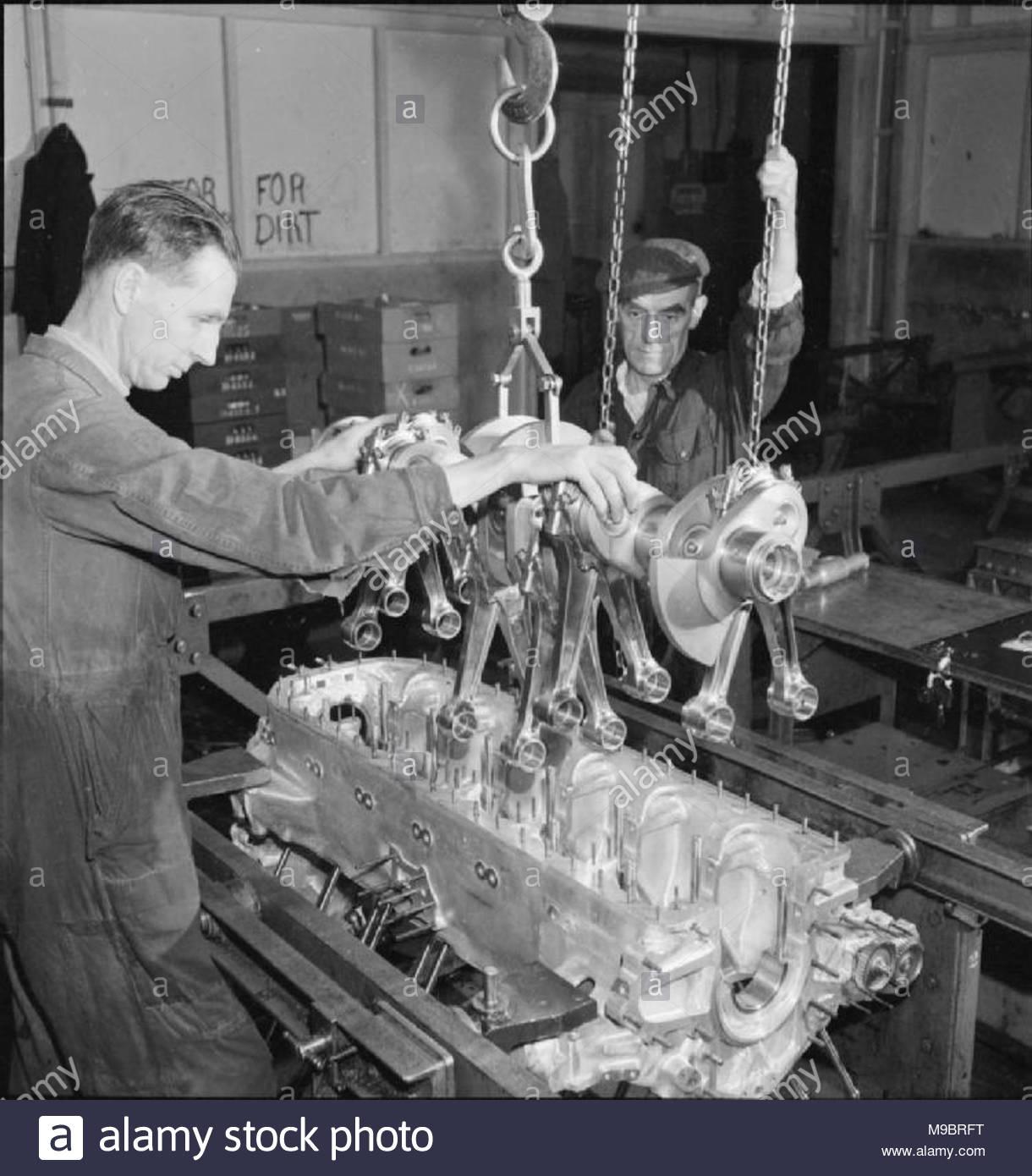 Aircraft Engine Production Rolls Royce Stock Photos