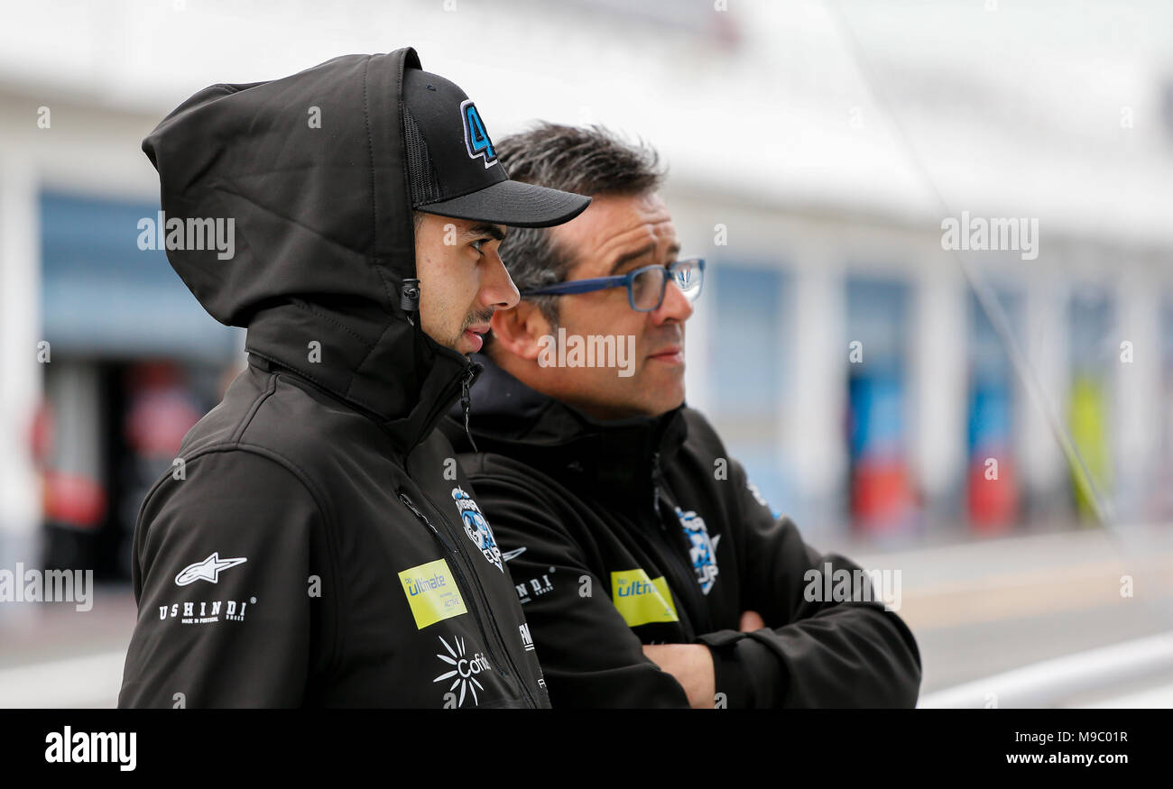 Estoril, Portugal, on March 24, 2018Portuguese rider of MotoGP-Moto2 Miguel Oliveira of Red Bull KTM Ajo during FIM CEV race in Estoril Circuit, in Estoril, Portugal, on March 24, 2018 with Oliveira Team - ETC Credit: Paulo Nascimento/Alamy Live News - Stock Image