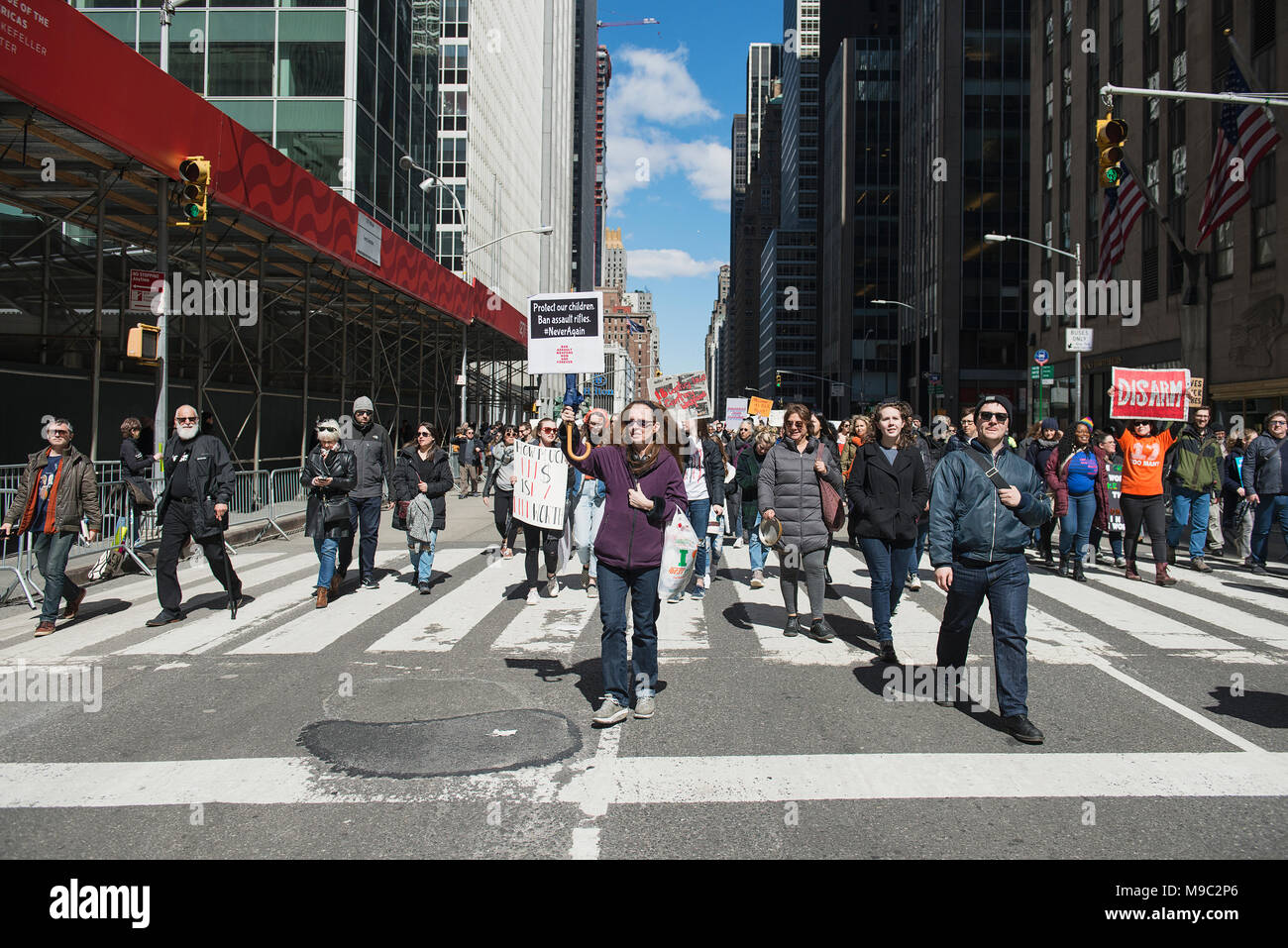 New York City, USA. 24th March, 2018. March for Our Lives in New York City, New York. March 24th, 2018. Credit: Beth Dixson/Alamy Live News Stock Photo