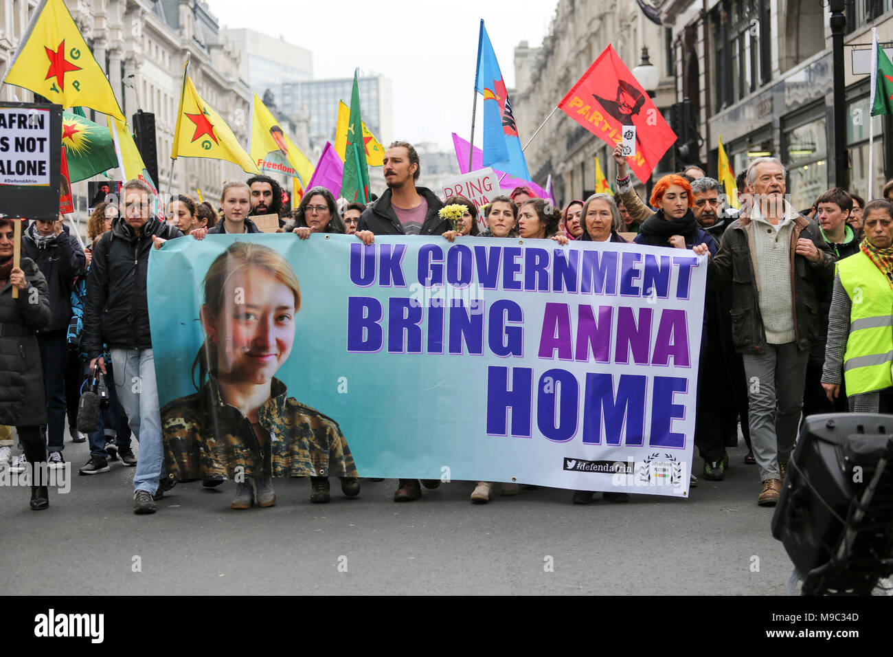 1e01e9dd66 24th March, 2018. Demonstration against Turkish forces and jihadists and  the invasion of the