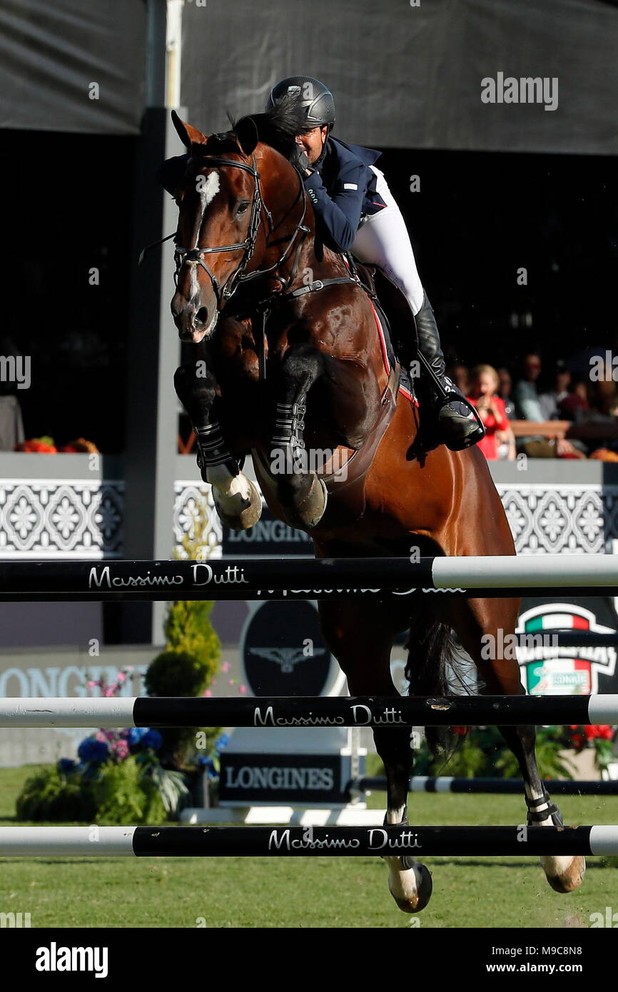 Longines Global Champions Tour Stock Photos Mk3278 Mexican Nicols Pizarro Participates During The Jumps Competition In Category 09 Cs15 Individual Of 160