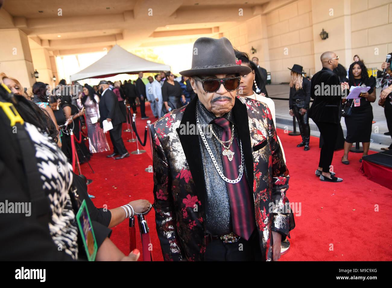 Las Vegas, NV, USA, 24 Mar 2018. Joe Jackson walking the red carpet at the 33 annual Stellar Awards in Las Vegas Nevada.  Photo Credit:  Marty Jean-Louis - Stock Image