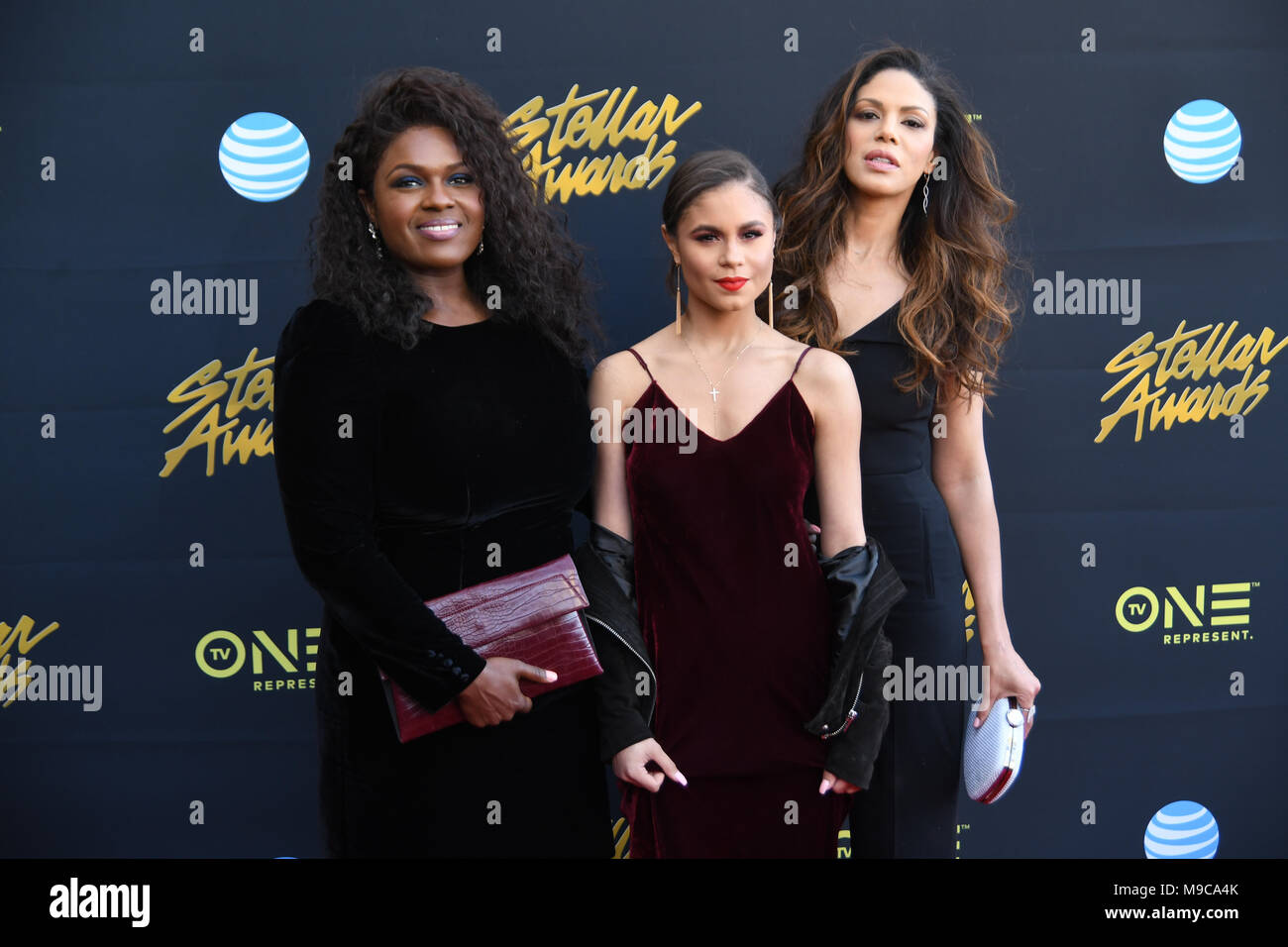 Las Vegas, NV, USA, 24 Mar 2018. Green leaf cast walks the red carpet at the 33rd Annual Stellar Awards in Las Vegas, Nevada.  Photo Credit:  Marty Jean-Louis - Stock Image