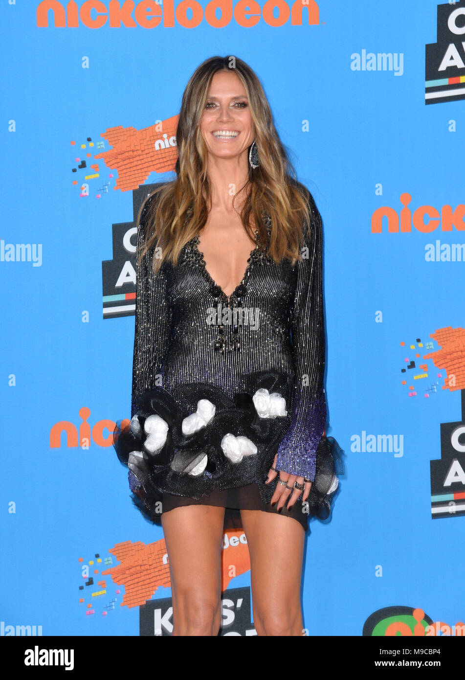 LOS ANGELES, CA  March 24, 2018: Heidi Klum at Nickelodeon's
