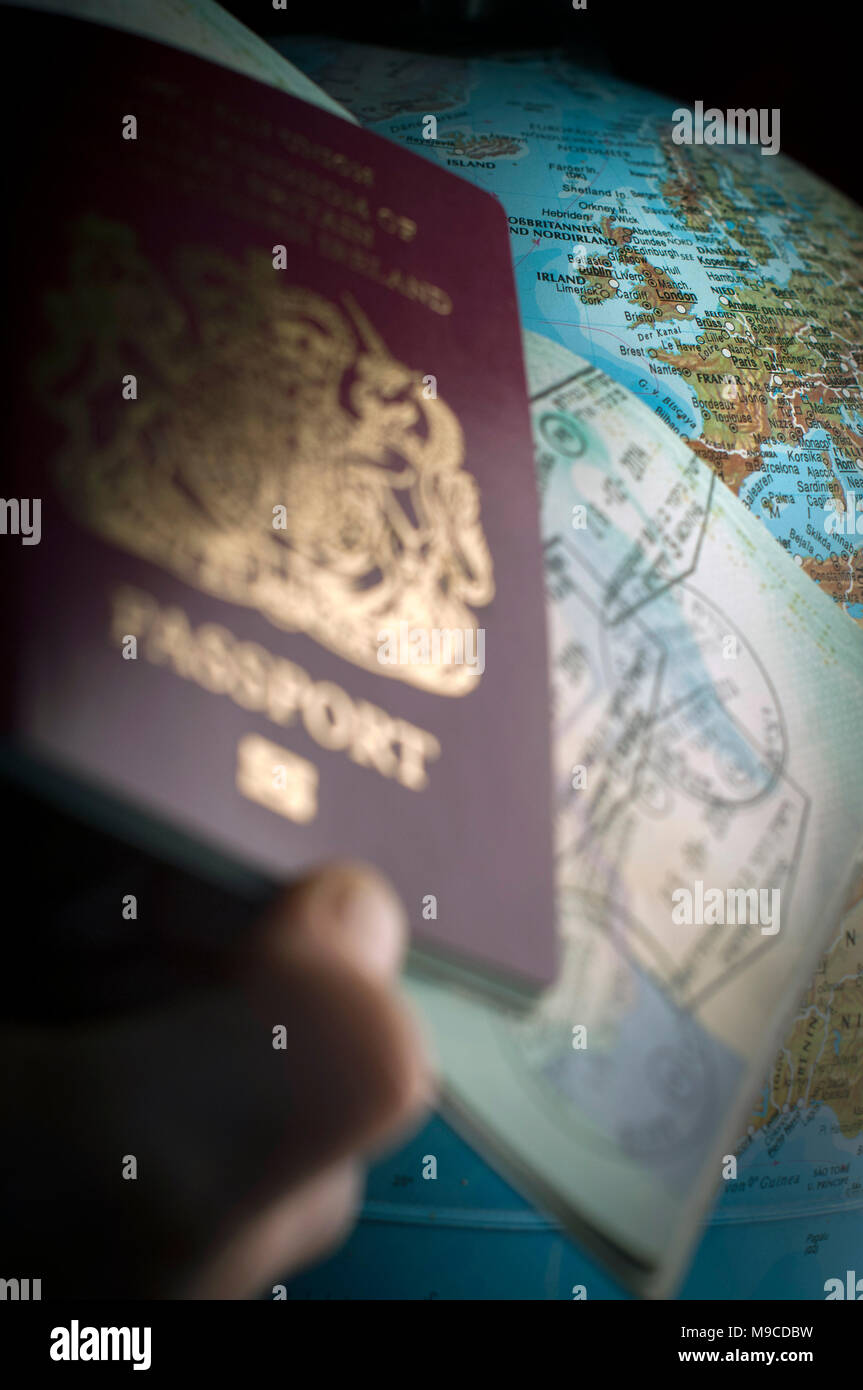 After Brexit will visa's be needed for travel in Europe. - Stock Image