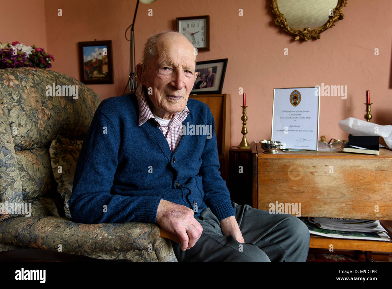 Wednesday 10th of May 2017: Scotland's oldest man, Alfred
