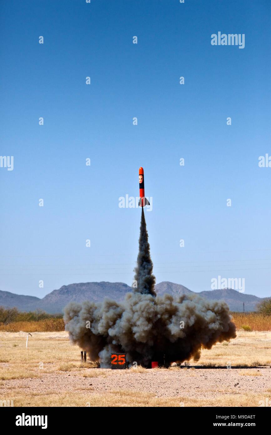Model Rocket Launch - Stock Image