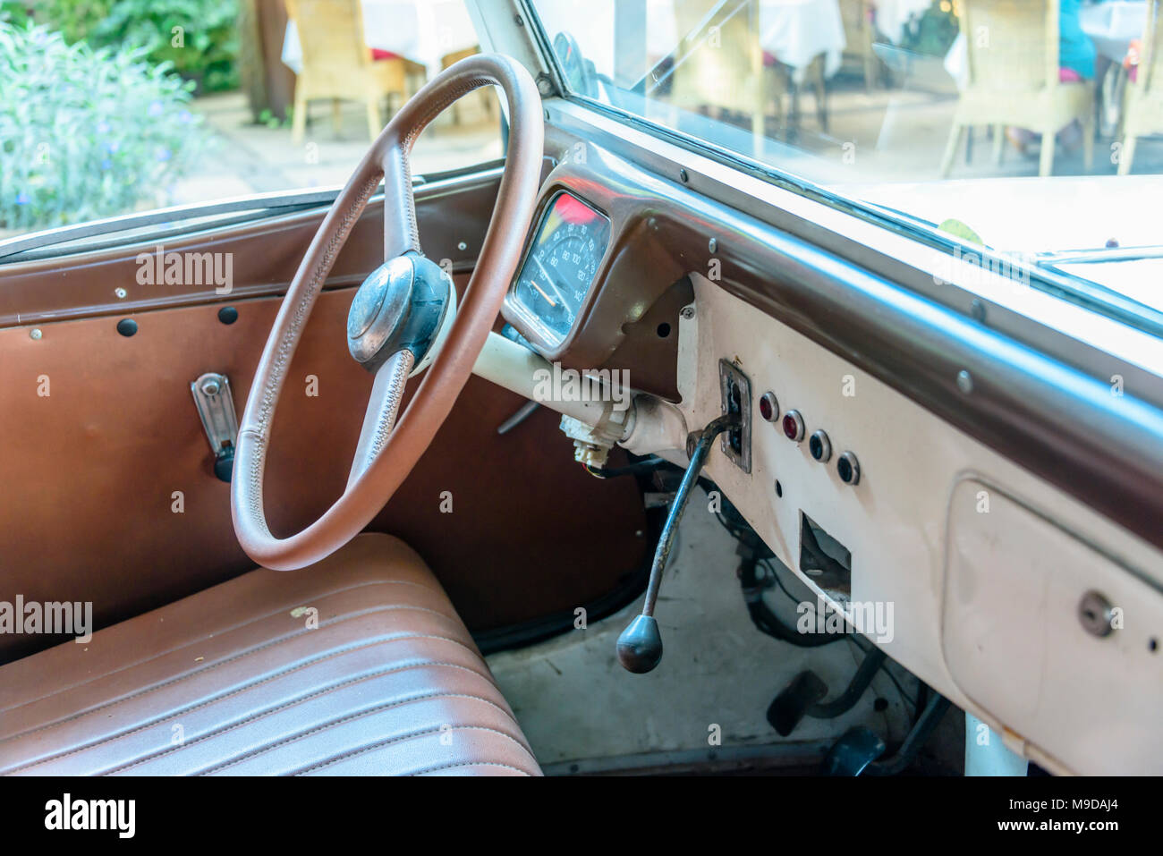 Interior Of A 1934 Citroen Traction Avant Siem Reap Cambodia Stock Photo 177929308 Alamy