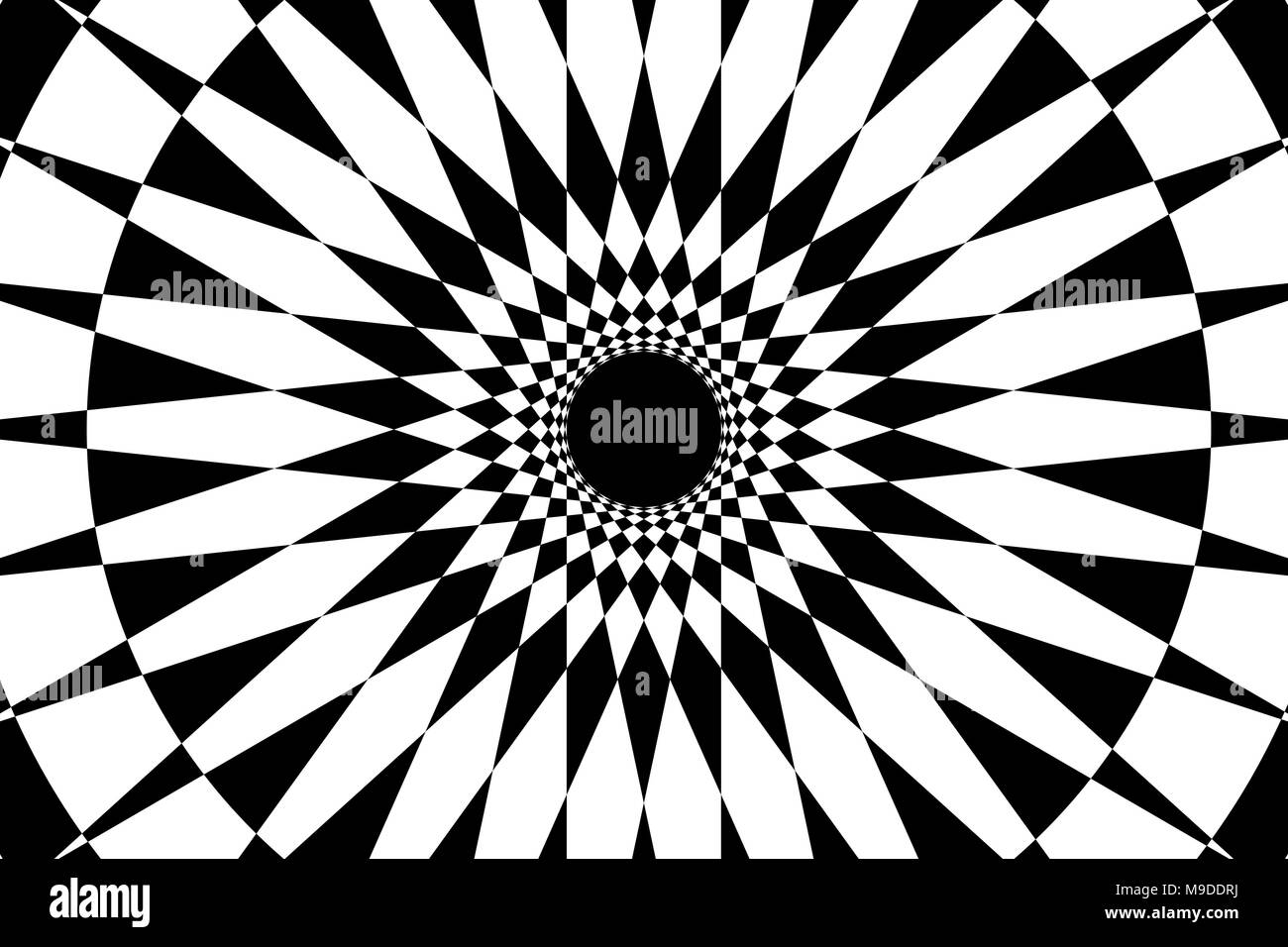 Abstract Geometric Pattern Black And White Circular Mathematical