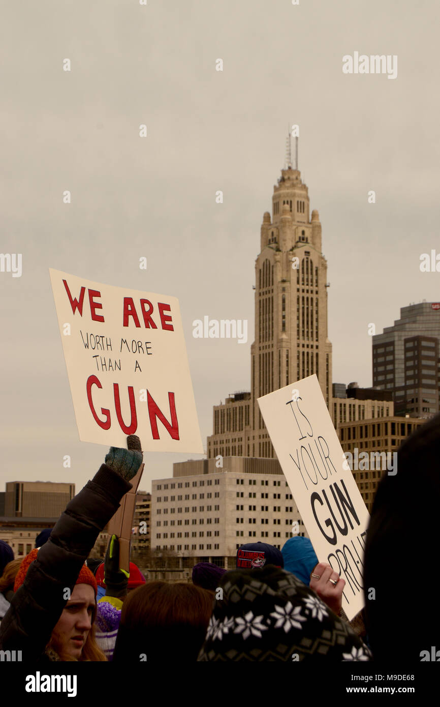 March for Our Lives, Columbus Ohio - Stock Image