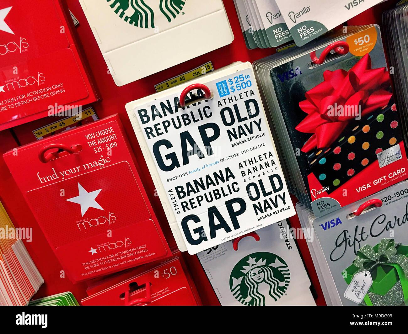 prepaid gift cards display usa stock image - Prepaid Card Usa