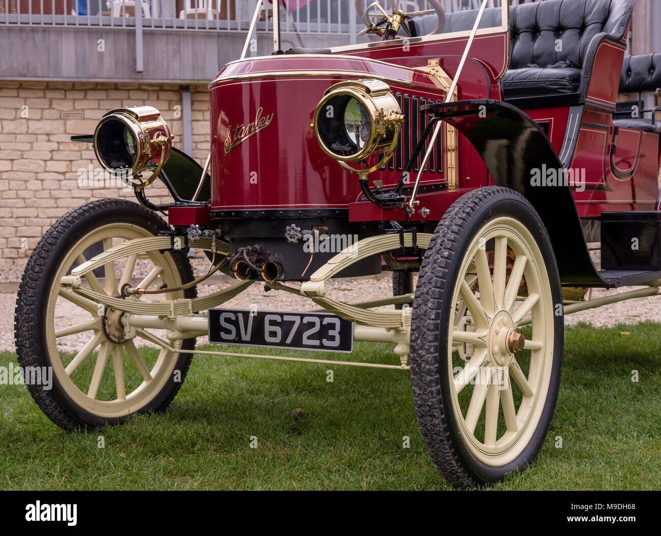 Stanley Steamer vintage motor car at Prescott Hill Climb. - Stock Image