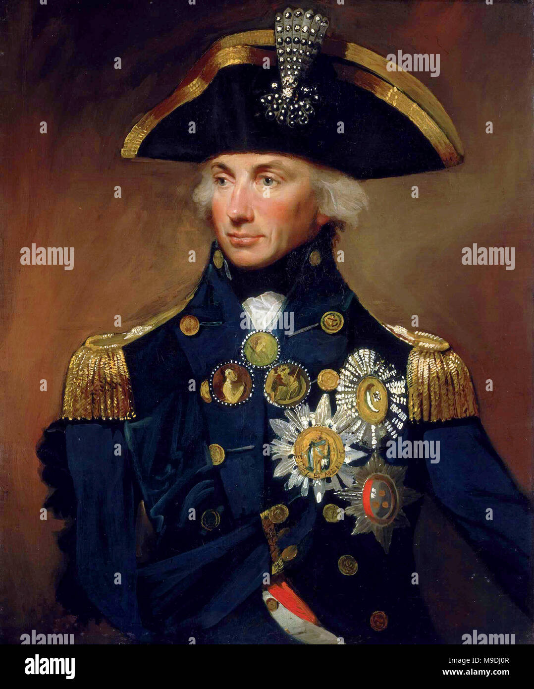 Horatio Nelson, 1st Viscount Nelson, (1758 – 1805)  British officer in the Royal Navy - Stock Image