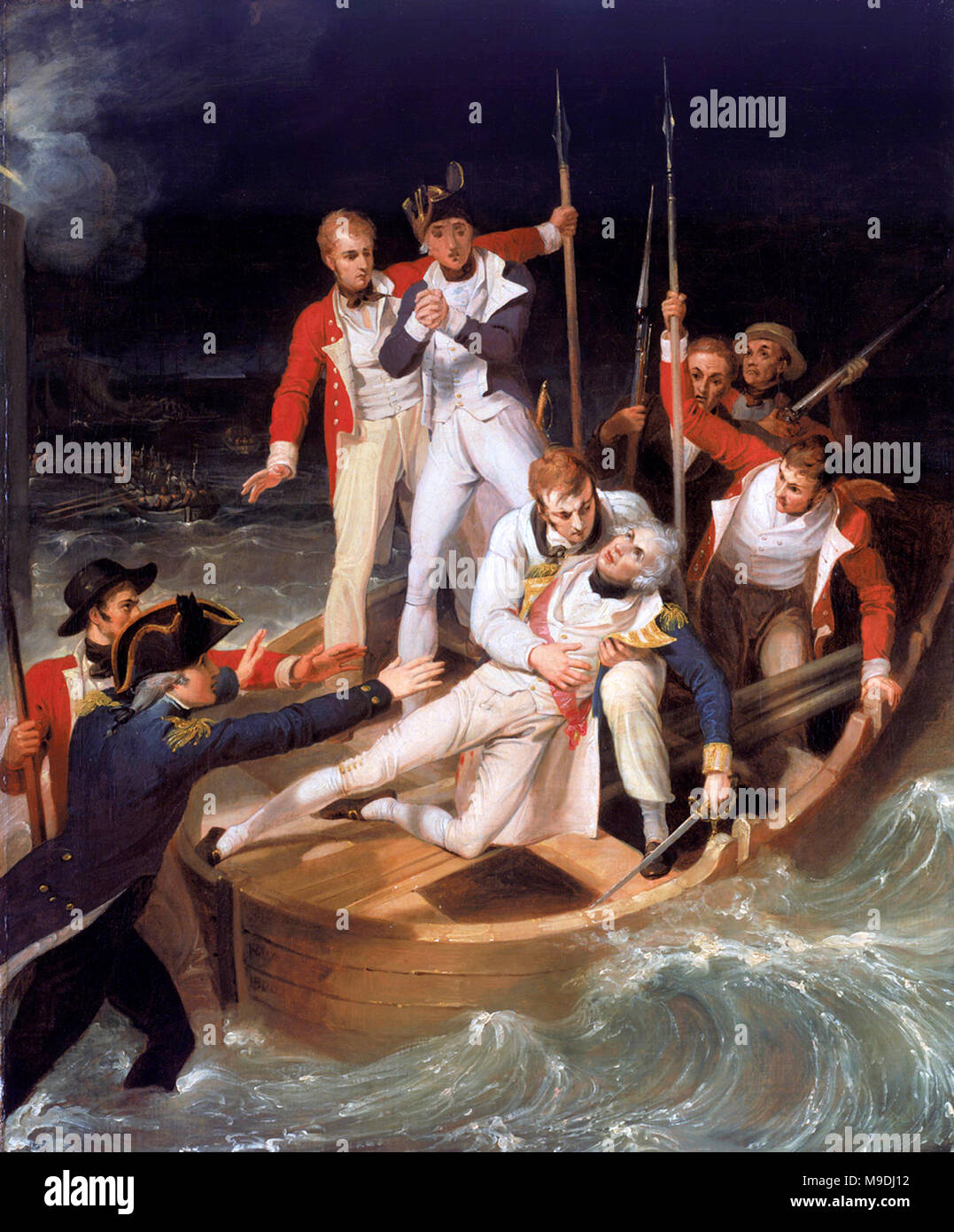 Horatio Nelson wounded during the battle of Santa Cruz de Tenerife; 1806 - Stock Image