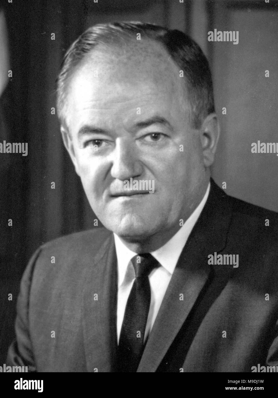 Hubert Humphrey, Hubert Horatio Humphrey Jr. (1911 – 1978) American politician and 38th Vice President of the United States from 1965 to 1969. - Stock Image