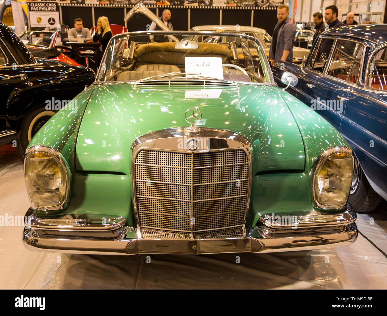 Vintage Mercedes Benz Convertible Light Green Techno Classica Essen Is The World Leading Automobile Show For Classic And Vintage Cars And Collectible Automobiles In 2018 The Motor Show Attracted Over 185 000 Visitors More Than