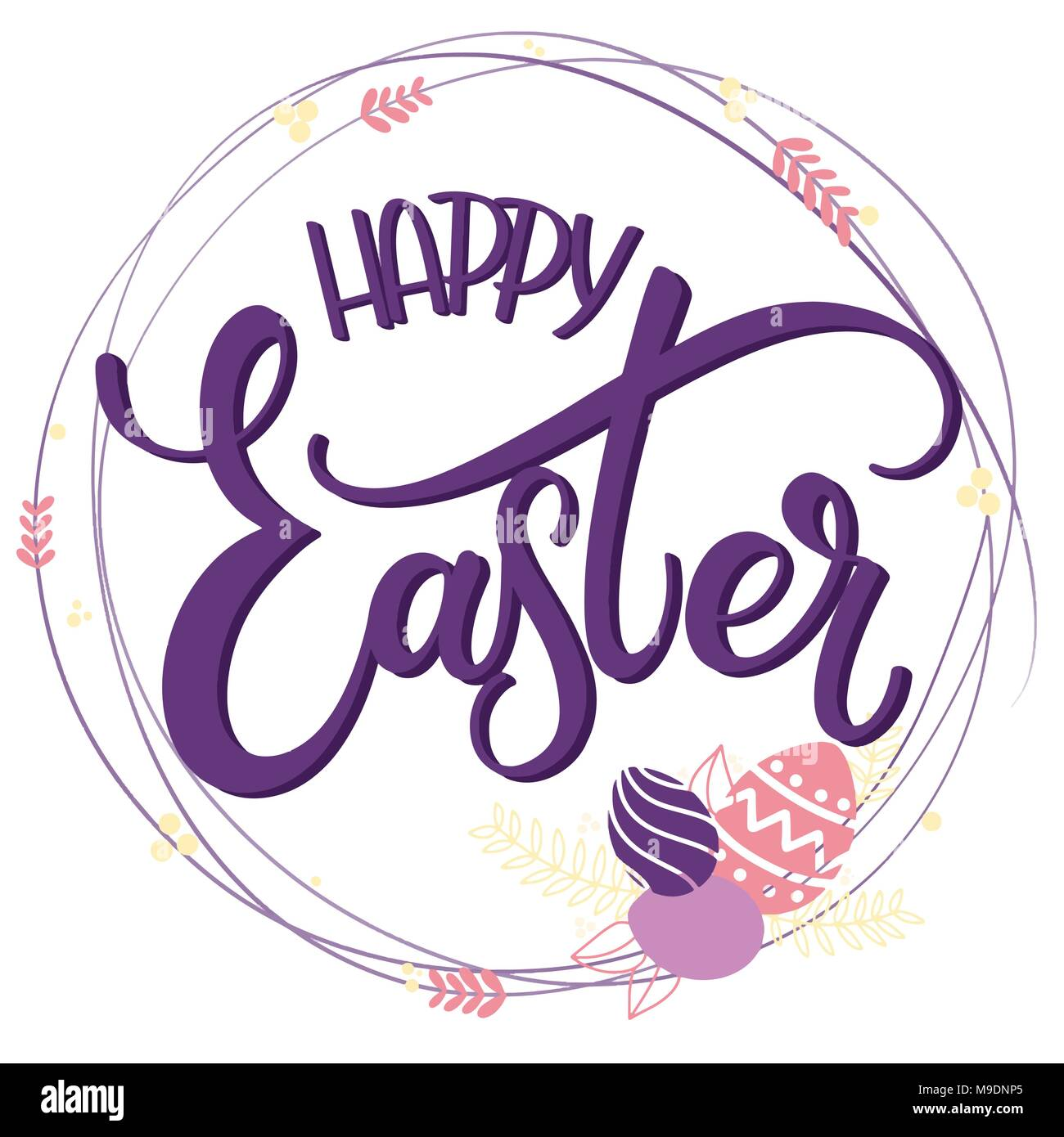 Happy easter colorful lettering hand written easter phrases hand written easter phrases seasons greetings m4hsunfo