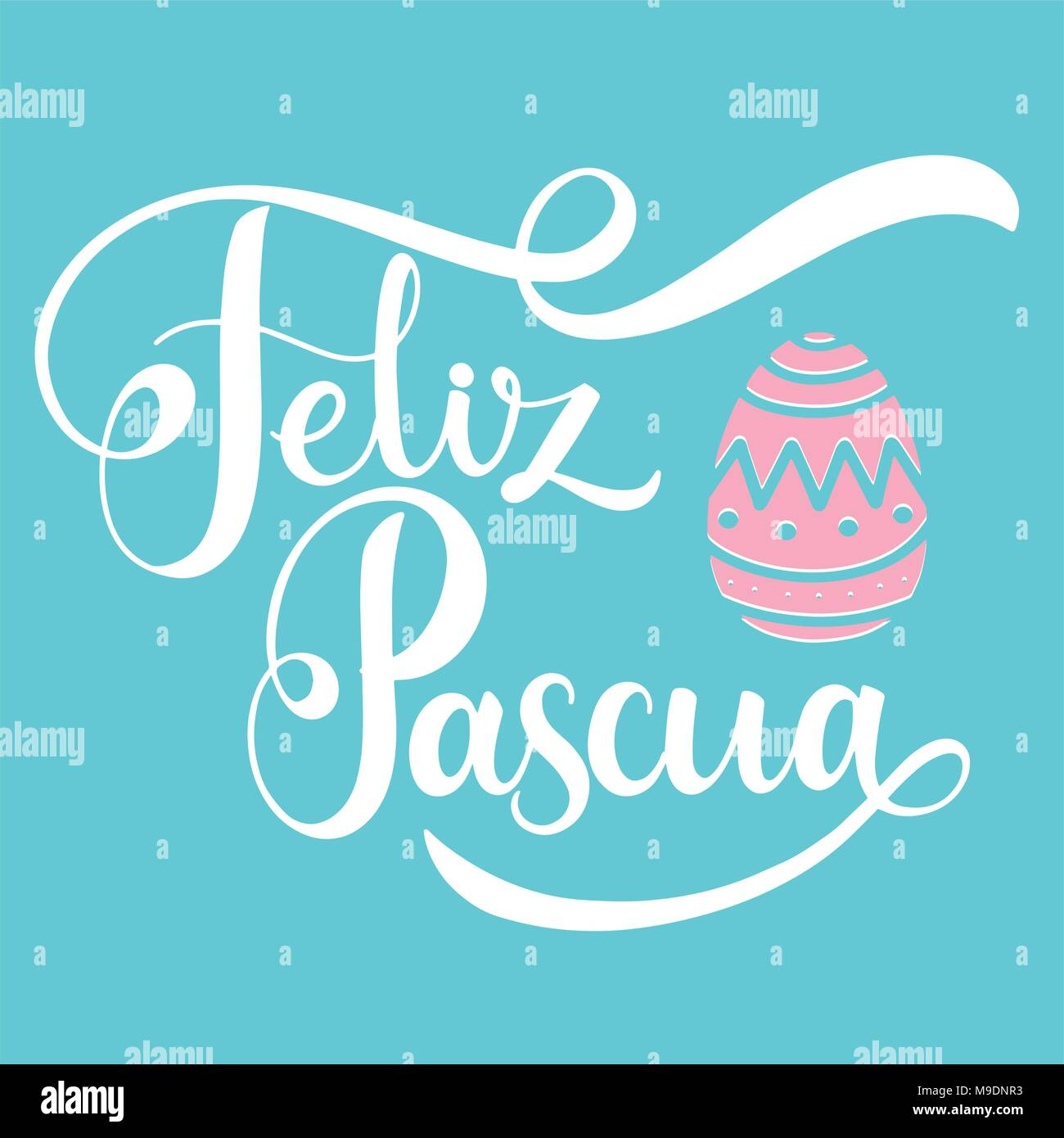 Spanish greeting card easter text stock photos spanish greeting feliz pascua colorful lettering happy easter lettering in spanish hand written easter phrases m4hsunfo