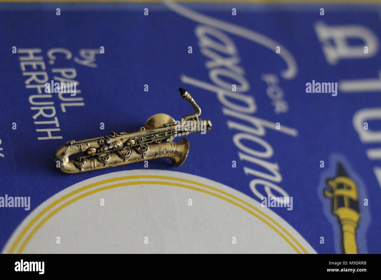 A Tune A Day For Saxophone - 1945 Original Music Publication - Stock Image