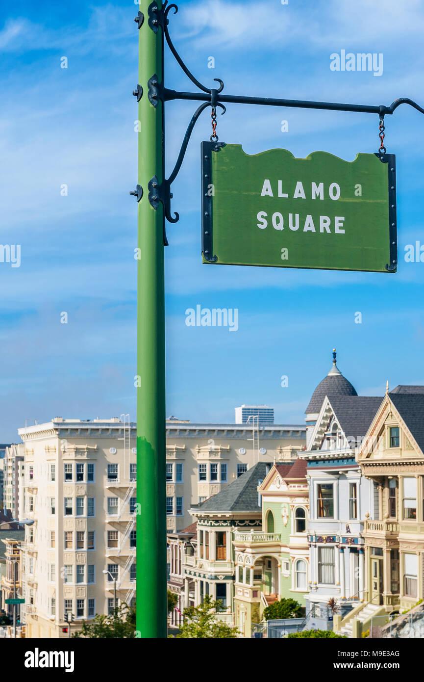 Alamo Square in San Francisco - Stock Image