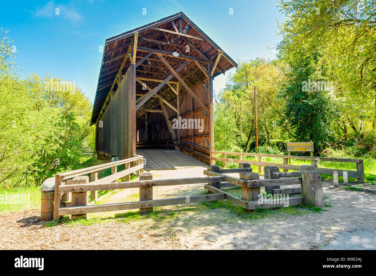 Covered Bridge in Felton California - Stock Image