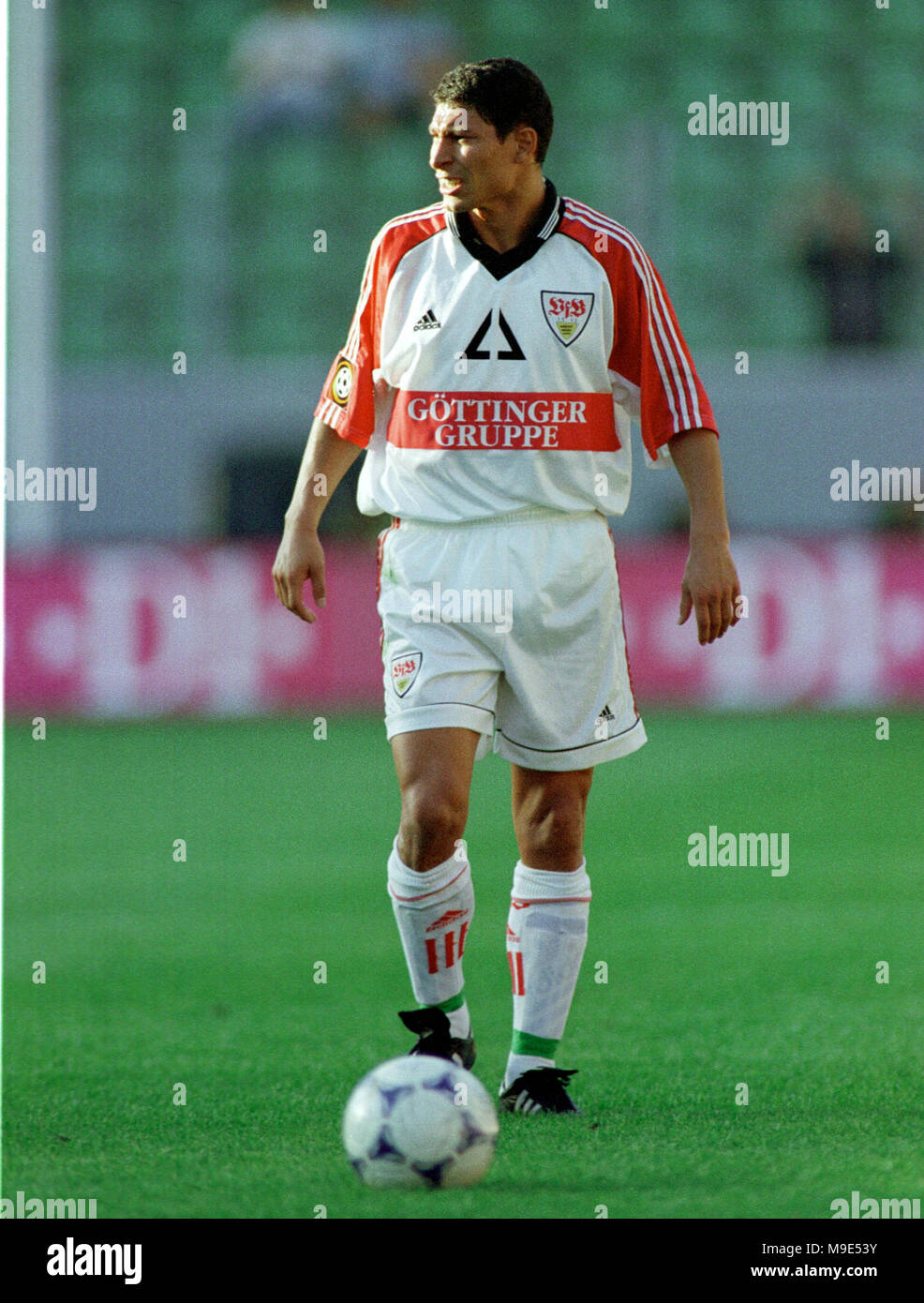 BayArena Leverkusen, Germany, 8.8.1998, German Liga-Cup Final, FC Bayern Munich vs VfB Stuttgart --- Krassimir BALAKOV (Stuttgart) - Stock Image