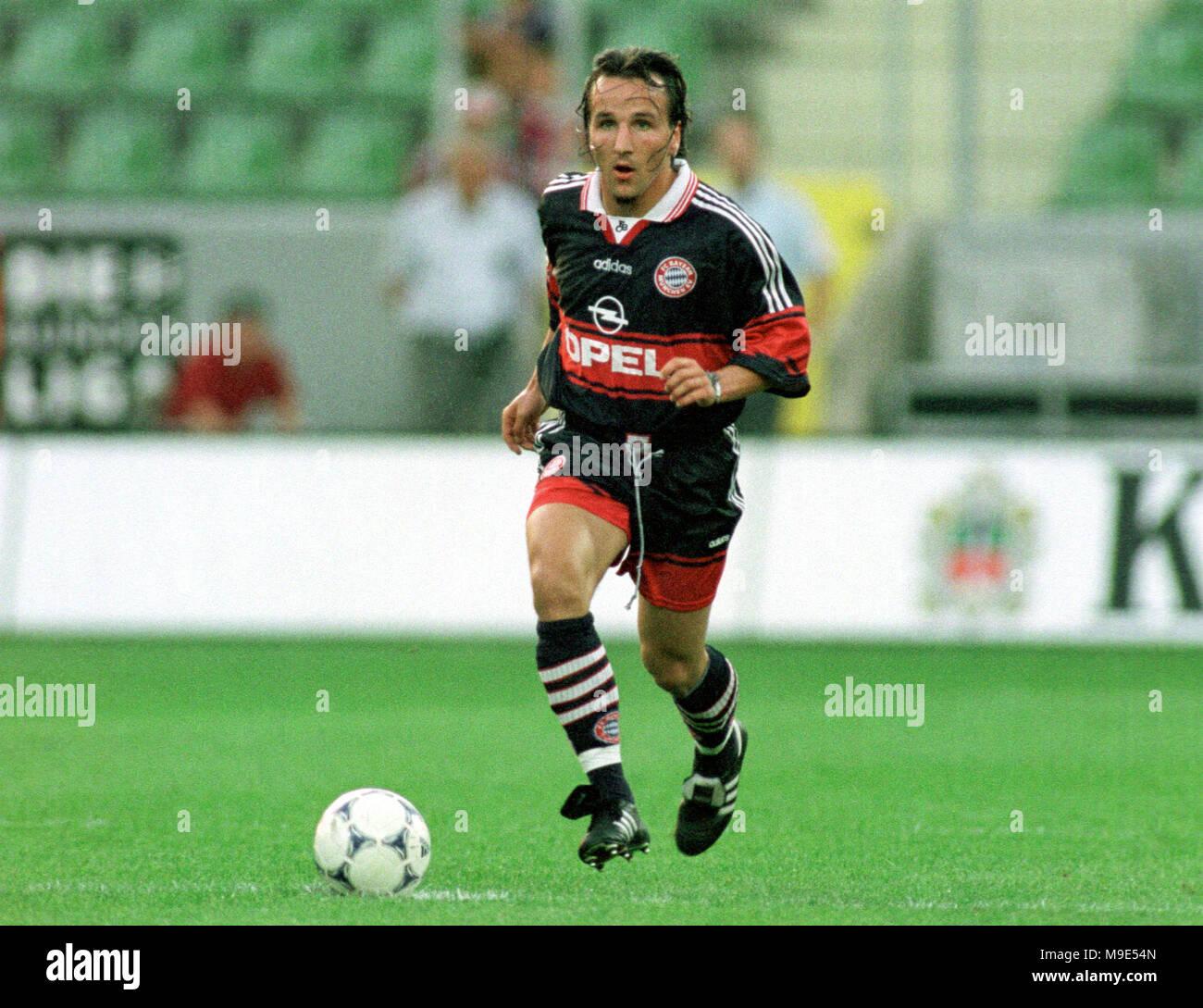 BayArena Leverkusen, Germany, 8.8.1998, German Liga-Cup Final, FC Bayern Munich vs VfB Stuttgart --- Jens JEREMIES  (Munich) - Stock Image