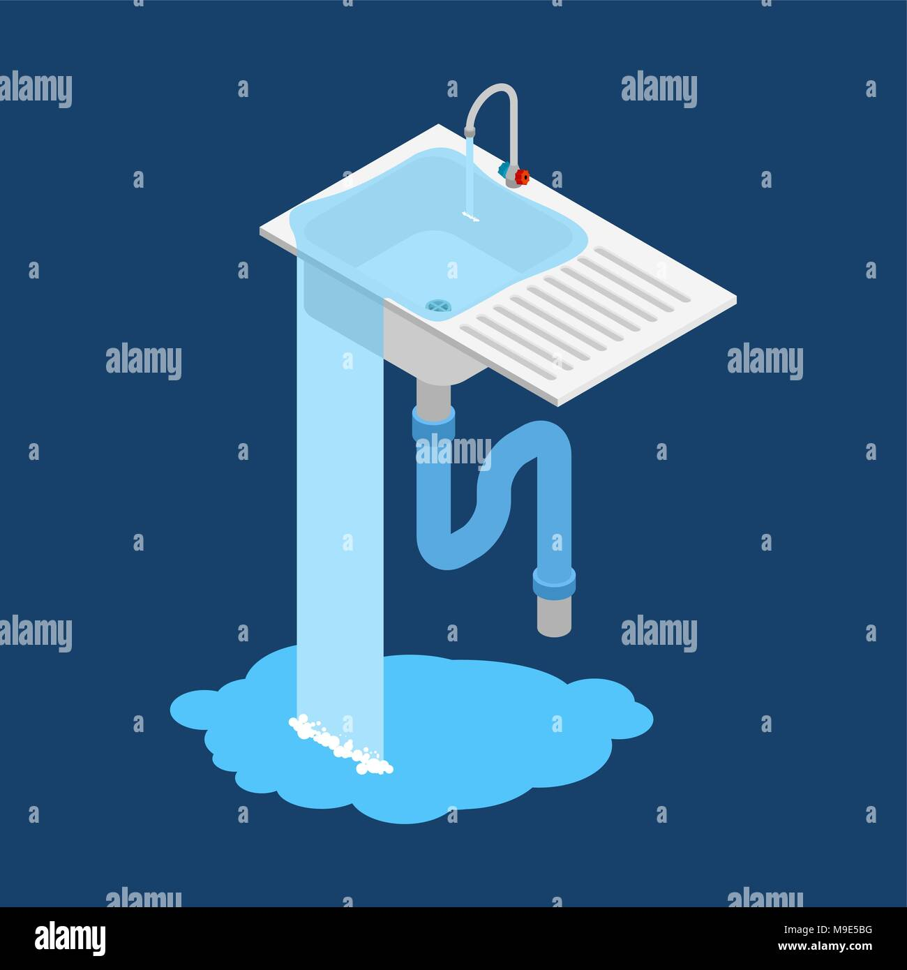 Kitchen Sink Drain Stock Vector Images - Alamy