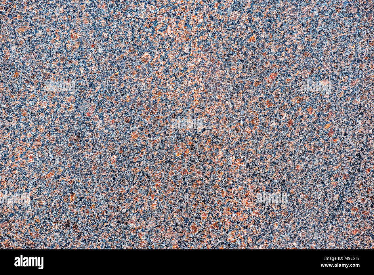 Intense color brown, bluish granite stone plate for decoration purposes - Stock Image