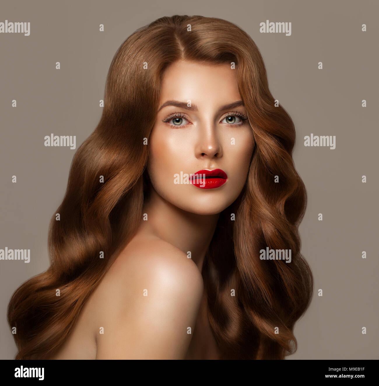 Hair Color Treatment For Healthy Shiny Hair Stock Photos Hair