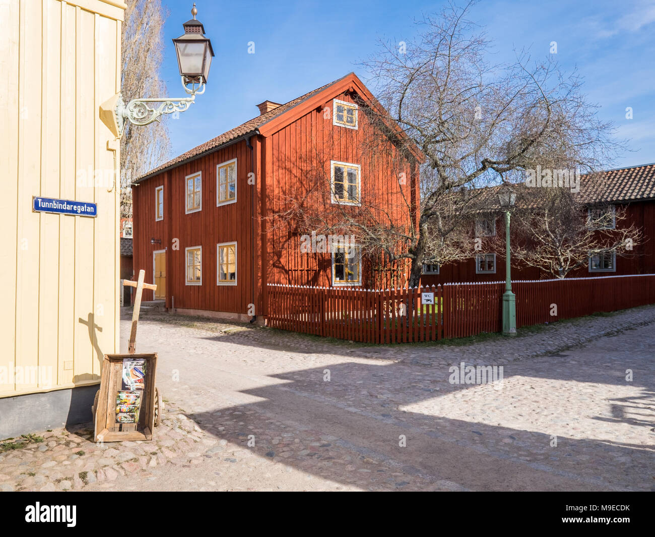Open-air museum Old Linköping during early spring in Sweden - Stock Image