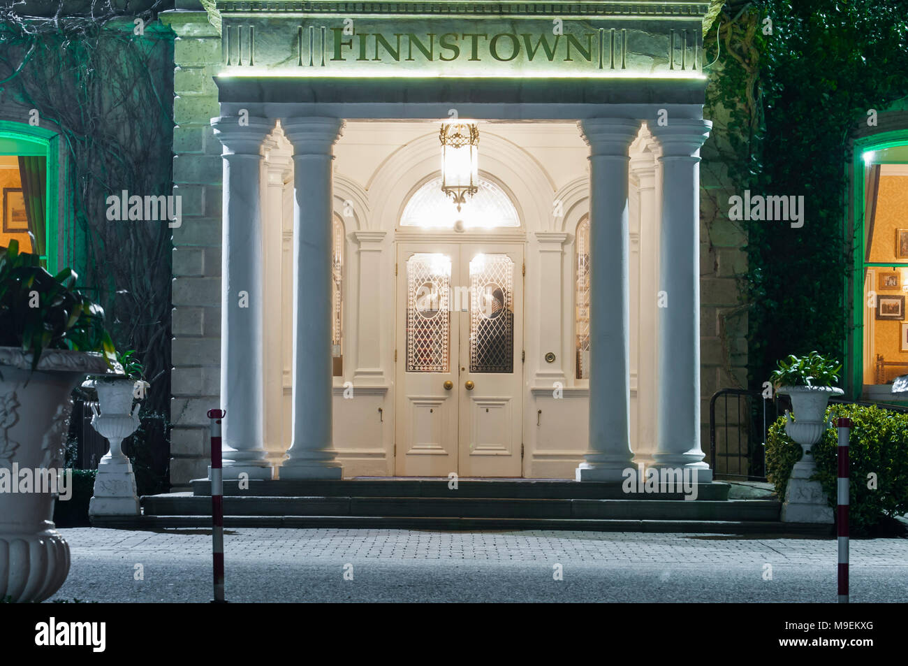 Entrance Door To Finnstown Castle Hotel At Night Lucan County