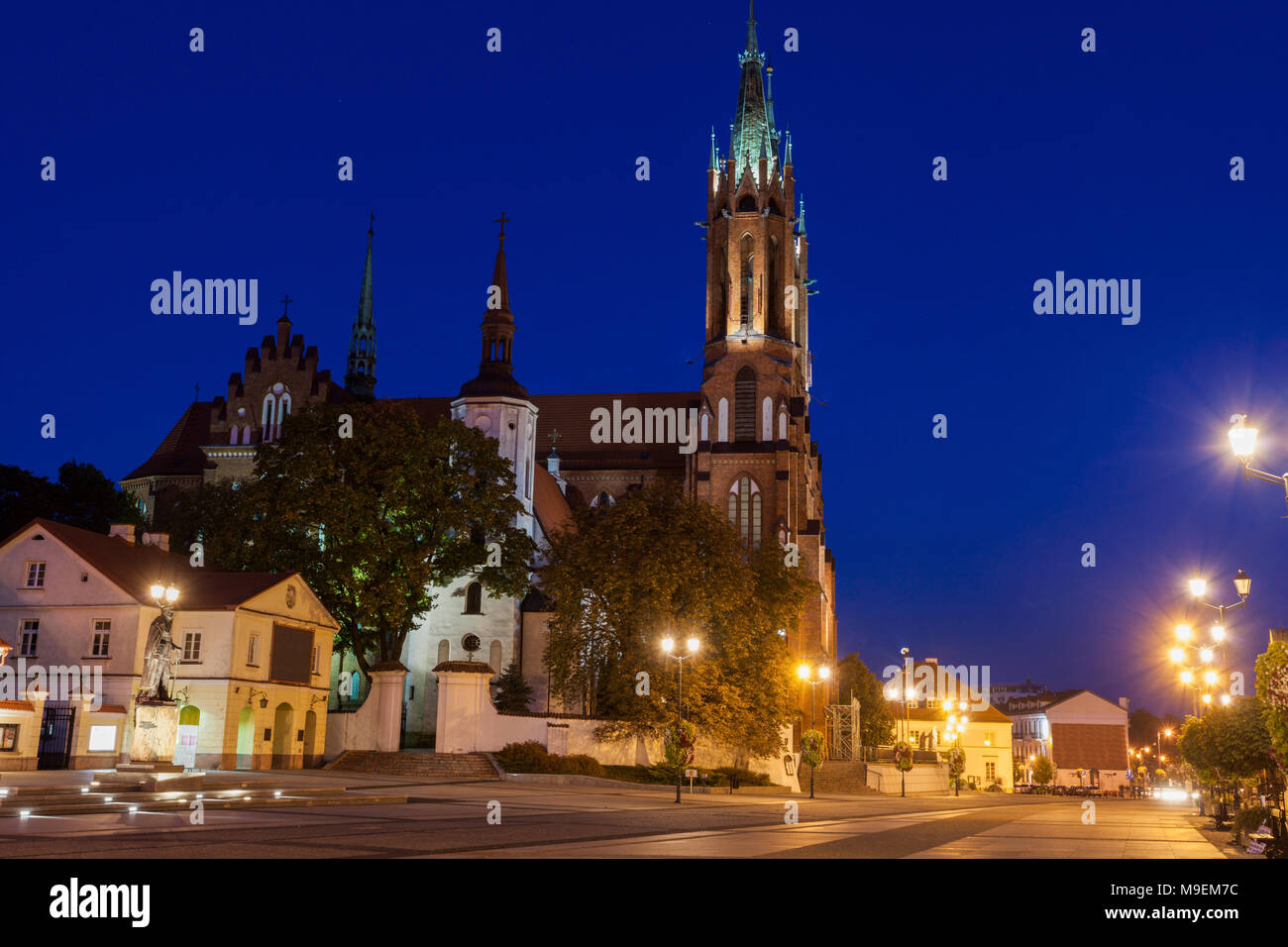 Cathedral Basilica of the Assumption of the Blessed Virgin Mary in Bialystok. Bialystok, Podlaskie, Poland. - Stock Image