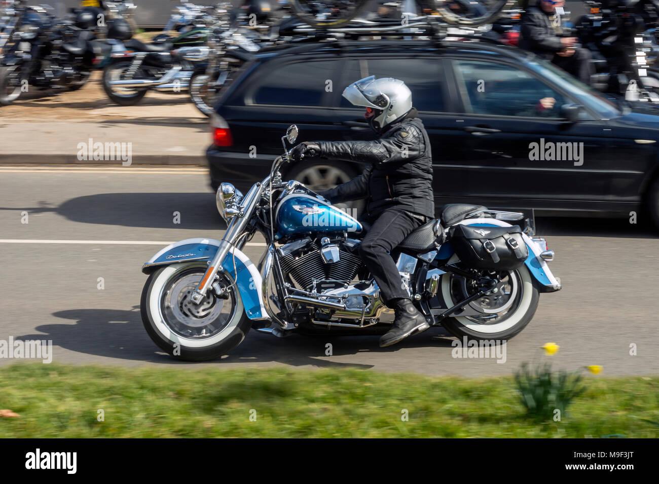 Organized By The Harley Davidson Rutland Chapter Stock Photos ...