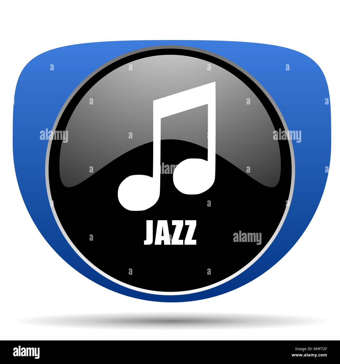 Jazz music web icon - Stock Image